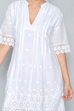 Linen Dresses, Modest Dresses, Casual Dresses, Kurta Designs, Blouse Designs, Sleeves Designs For Dresses, Nursing Dress, White Fashion, Women's Fashion Dresses