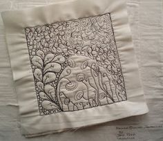 WOW! this is amazing... Machine+Quilted+Zentangle+Jane+Monk+Studio