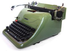 Typewriter collector Richard Polt thinks Hank could be wooed with this 1950s Olivetti Graphika