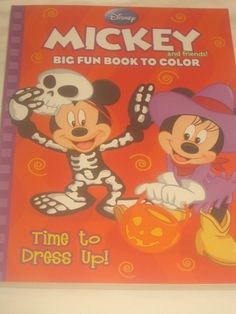 Set Of 2 Coloring Activity Books Disney Mickey Minnie Goofy Daffy Spooky Costume