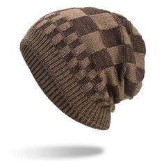 Mens Square Lattice Wool Velvet Knitted Hat Warm Good Elastic Hat Winter Outdoor Casual Beanie is hot sale on Newchic Mobile. Crochet Beanie, Knitted Hats, Square Lattice, Sierra Leone, Winter Colors, Cook Islands, Cotton Style, Beanie Hats, Men's Hats