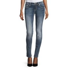 Miss Me Faded Skinny Jeans ($48) ❤ liked on Polyvore featuring jeans, blue jeans, skinny jeans, destructed skinny jeans, denim skinny jeans and destroyed jeans