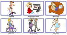 play, exercise 등의 활동을 시각 자료를 통해 더 잘 이해할 수 있다. 그리고 학생들의 흥미 또한 이끌 수 있다.