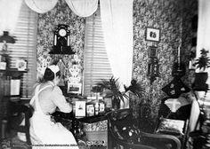 Unknown nurse in her home, around Nurse Uniforms, School Pictures, Nurses, Sweden, Education, History, Wedding Dresses, Vintage, Photos