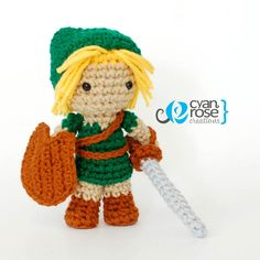 Young Hero Link from Zelda Ocarina of Time by CyanRoseCreations, $30.00