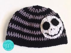 With its distinct look and cool applique, this Skeleton Beanie is an edgy addition to anyone's wardrobe! This crochet beanie is easy to make, too.