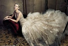 Kate Moss by Annie Leibovitz    wow the dress