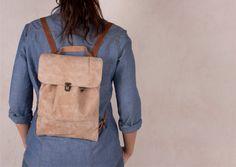 Leather Backpack Lumiere Safari