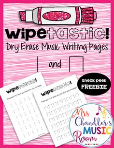 Dry Erase Music Writing Pages Ta and Ti-Ti Music Activities, Writing Activities, Middle School Music, Music Writing, Music Worksheets, Music Station, Music Classroom, Classroom Ideas, Music Lessons