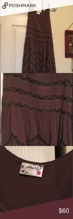 Trapeze free people dress Perfect condition trapeze brown free people dress Free People Dresses Midi