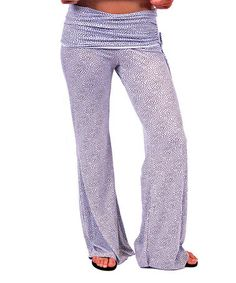 This White & Gold Speckle Lounge Pants by Undie Couture is perfect! #zulilyfinds