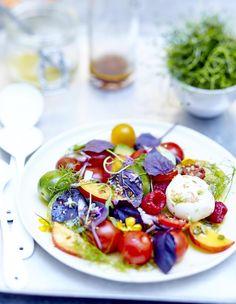 Salade de tomates, f