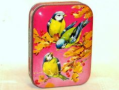 English Blue Tit Bird Candy Toffee Tin 1930s RARE Version | eBay