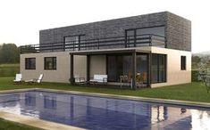 Casa prefabricada Cube 250 m2. La casa modular Cube más grande. Puedes distribuir el espacio en cinco o seis dormitorios. Con una terraza de casi 50 m2.