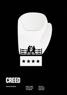 Creed (2015) ~ Minimal Movie Poster by Matt Needle ~ Oscars 2016 Nominees #amusementphile