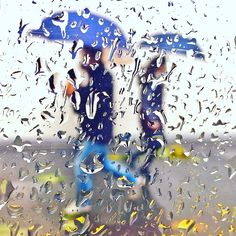 Rain drop street photography