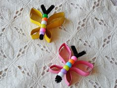 Spring Beaded Butterflies | Community Post: 22 Cool Kids Crafts You Can Make From Toilet Paper Tubes