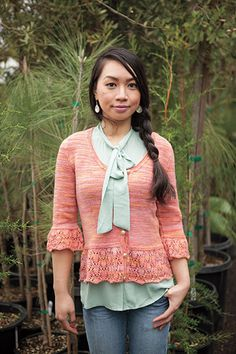 Sharee Cardigan by Cassie Castillo.  Published in the In Bloom collection by Knit Picks.