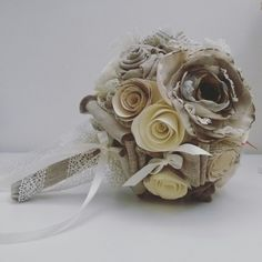 www.facebook.com/elisamentecrea #bouquet di carta by #elisamente #wedding #matrimonio