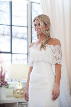 After trying on several options, Danielle chooses the lace crop ... Bride by Design