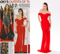 CRISTALLINI in OK! Magazine UK! #fashionaddict #bestdressed #ladyinred #gown #celebrity