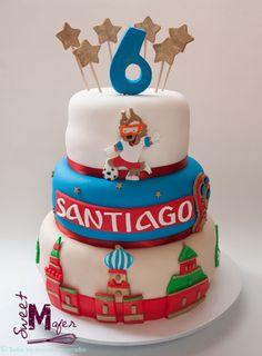 Torta mundial Rusia 9th Birthday Parties, 10th Birthday, Birthday Cake, Thomas Birthday, Love Cake, Cupcakes, Desserts, Messi, Shower