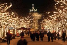 To get into the mood, click through for some stunning images of twinkling Christmas lights around the world over the years. Berlin Christmas, Christmas Markets Europe, Christmas Lights Outside, Xmas Lights, Holidays Around The World, Around The Worlds, Happy New Year Photo, Celebration Around The World, Brandenburg Gate