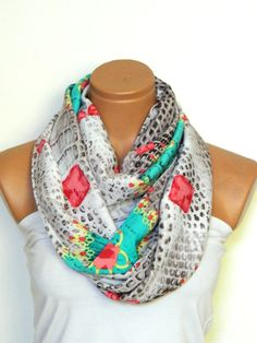 multicolor infinity scarfscarvesLoop by WomensScarvesTrend on Etsy, $19.00