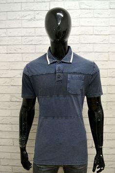 20212e51b3 Polo MARLBORO CLASSICS Uomo Taglia Size L Maglietta camicia Shirt Man  Cotone Blu #regular