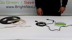 How to install UL strip lights to different connectors, B to B, single and double end connector with wire and L shape connectors Led Down Lights, L Shape, Led Strip, Downlights, Strip Lighting, Light Colors, Resin, Bulb, Wire