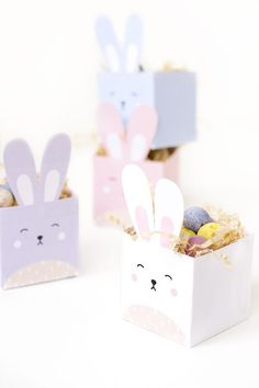 printable easter bunny boxes Delight your kids and friends with these DIY printable easter bunny treat boxes!Delight your kids and friends with these DIY printable easter bunny treat boxes! Easter Crafts For Kids, Diy For Kids, Diy Easter Gifts For Friends, Summer Crafts, Fall Crafts, Friend Crafts, Bunny Birthday, Diy Birthday, Birthday Gifts