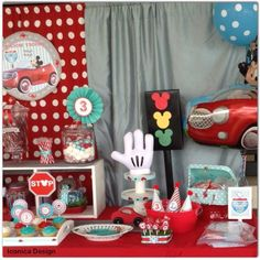Mickey Mouse Little Red Car Party Full of Fabulous Ideas via Kara's Party Ideas | KarasPartyIdeas.com #MickeyMouseParty