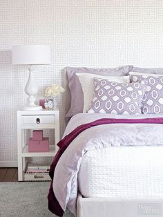 Home decor ideas using a variety of patterns that you can go big with and cover your walls and bedding, or use sparingly with patterned throw pillows.