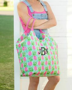 Personalized Large Beach Bag Oversized Pool Tote – Gifts Happen Here Custom Embroidery, Machine Embroidery, Large Beach Bags, Embroidered Gifts, Beach Ready, Family Gifts, Color Patterns, Drawstring Backpack, Gym Bag