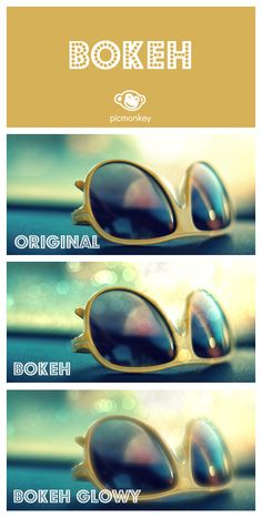 Bokeh adds a bit of sparkly goodness to your photos. And you can change the shape too! Tip: Works best on images that have a wide range of lights and darks.