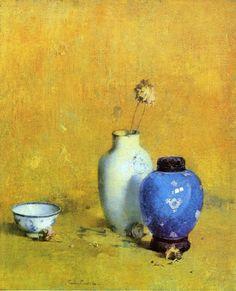 Painting by Soren Emil Carlsen American Artist