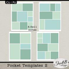 Personal Use :: Templates :: CU Pocket Templates 02