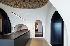 Historic seaside home transformed into stunning 'modern cave' - Curbedclockmenumore-arrow : The home fantastically balances old and new details
