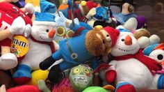 Sugarloaf Holiday Christmas Elf Plush Wins at the Claw Machine Crane Game