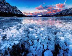 Gelembung unik di Danau Abraham, Kanada