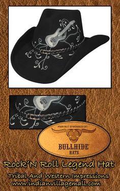 3ecf18f33f4 Rock N Roll Legend Bullhide Western Hat- Shapeable • Soft Wool Felt Western  Hat •