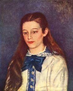Pierre-Auguste Renoir.  Porträt der Therese Bérard. 1879, Öl auf Leinwand, 80 × 79 cm. Dieppe, Musée de Dieppe. Frankreich. Impressionismus.  KO 01989