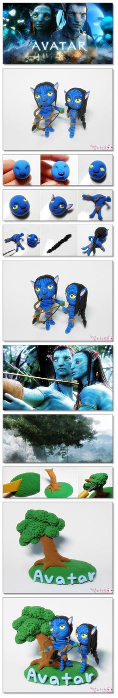 DIY Tutorial FIMO Polymer clay - avatar characters