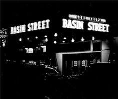 Basin Street Cafe, NYC, New York, 1950