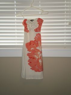 Available @ trendtrunk.com Strapless-white-and-coral-sundress-with-a-bit-of-sparkle. Heels by Le Chateau. Only $40.00! Coral Sundress, Sparkle Heels, Summer Wardrobe