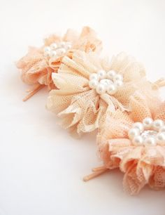 peachy hair clips.