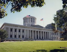 Ohio State Capitol, Columbus, OH --  Fondest memory, sitting on the grass with Eli in front of the capitol bldg. :)