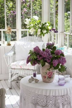 beautiful sun porch