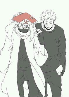 Kakashi Hatake and Obito Uchiha T.T wie ich mir das wünsche Kakashi And Obito, Naruto Kakashi, Shikamaru, Anime Naruto, Manga Anime, Naruto Comic, Boruto, Sasunaru, Naruto Shippuden
