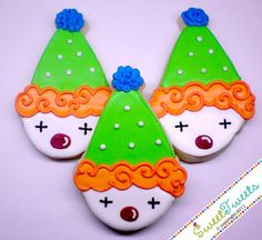 Sweet Tweets Clown Cookies